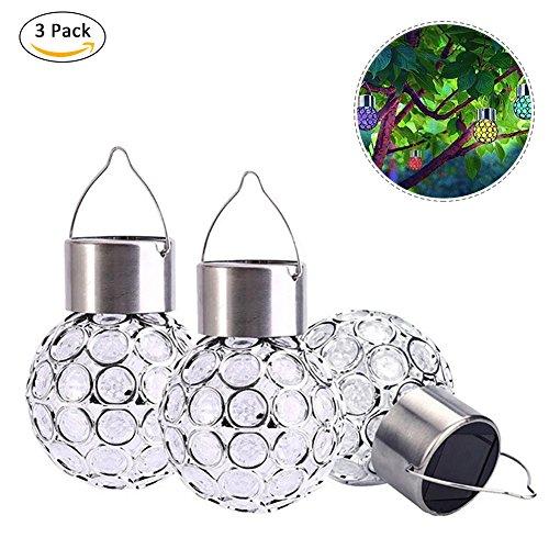 LED Solar Power hängende Dekoration Crystal Ball Licht, Farbe wechselnden Licht, perfekt für Gärten, Home, Hochzeiten, Party, Weihnachtsschmuck (Schnelle Einfache Und Outdoor-halloween-dekoration)