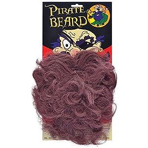 Brown BEARD WAVY STYLE PIRATE FANCY DRESS (disfraz)