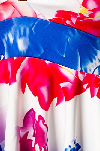 Yourdesignerz -  Vestito  - Senza spalline - Floreale - Senza maniche  - Donna Multicolore