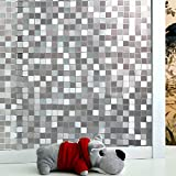 3D Effect Laser-Like Fancy Mosaic Door Privacy Film Protective For Company Office Fence Window