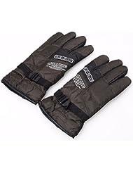 Hommes Automne Hiver Hiver gants en cuir et rembourré fleece chaud froid Korean Tidal antidérapant Gants vélo Vélo