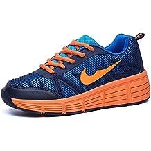 Zapatillas con ruedas automáticas para niños. - Azul oscuro / naranja - Varias tallas