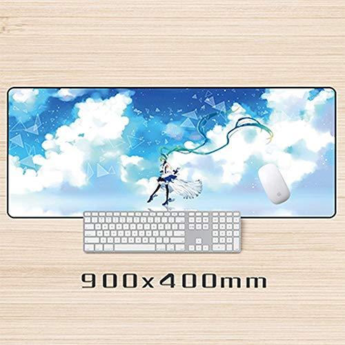 Preisvergleich Produktbild Mauspad Gaming Mauspad Große Größe Mauspad Laptop Tisch Gaming Mouse Pad Schloss Rand Rutschfeste Mousepads Schreibtisch Notebook Büro Maus Matten I,  40 * 90 Cm