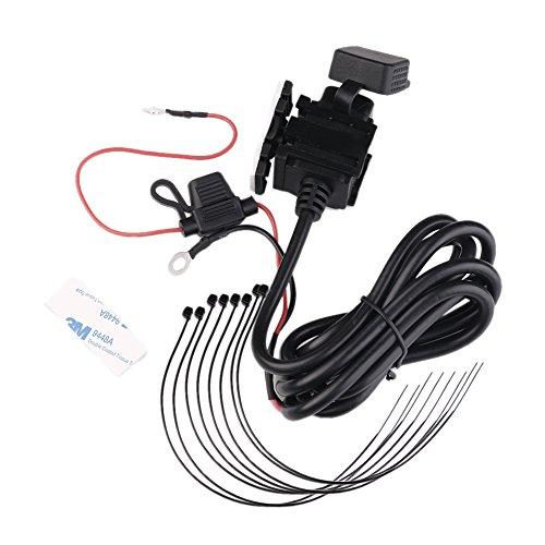 Preisvergleich Produktbild Motorrad USB Aufladeeinheit,  Motorradtelefon Adapter,  wasserdichter SAE zum USB Stecker,  Auto Boot 2.1A Doppel 2 USB,  beweglicher Hafen Spg.Versorgungsteil Hafen Einfaßung,  für Telefone,  GPS,  Tabletten,  Kamera,  Energien-Banken (Platz)