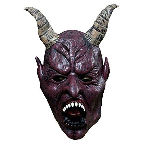 Bello Luna Erwachsene Teufel Horn Maske Halloween Deluxe Latex Kostüm Cosplay Maske mit Hörnern, Ohren und (Kostüme Erwachsenen Belle Halloween)