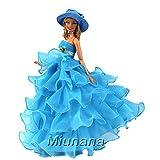 Miunana Jupe Longue Pour Barbie Avec Chapeau