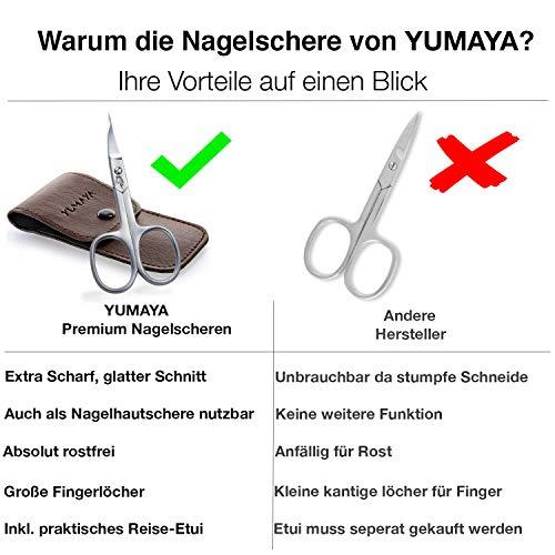 YUMAYA Profi Nagelschere - Super scharfe Nagelhautschere mit gebogener Schneide - Premium Nagelschere Fussnägel auch für Linkshänder geeignet - Inkl. Etui und Nagelpflege Ebook