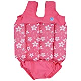Splash About Mädchen Kinder Float-Anzug, Rosa Blüte, M (Mittel - 2-4 Jahre)