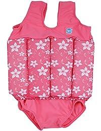 Splash About FSPB1 -  Traje de natación para niños, color rosa con diseno de flores, 1-2 años