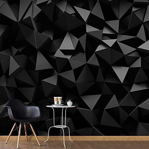 murando Papier peint intissé 400x280 cm Décoration Murale XXL Poster Tableaux Muraux Tapisserie Photo Trompe l'oeil3D optique noir bleu f-C-0113-a-b