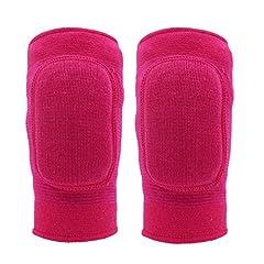 Idea Regalo - Ginocchiere Paciffico, ginocchiera, protezione per ginocchia, anti-urto, per bambini, antiscivolo, ginocchiere in cotone imbottite, adatte per sport o danza, [M]Rose Red, M