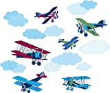 Wallpops Stickers muraux Autocollants Avions Vintage Taille L