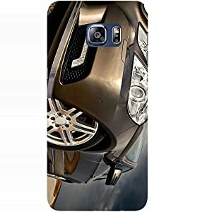 Casotec Car Headlight Design Hard Back Case Cover for Samsung Galaxy S6 Edge Plus