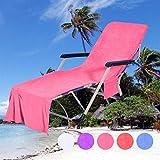 VNEIRW Sonnenliege Handtuch Liege Schonbezug Schonbezug für Gartenliege, Schonbezug Gartenstuhl Strandtuch Einfarbig Schonbezug für Gartenliege Frottee