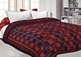 #3: Namaste India Double Bed Size Jaipuri Pure Cotton AC Quilt Razai Printed Winter Quilt Blanket - King Size