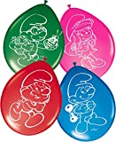 Folat - 8palloncini motivo Puffi, ideali come decorazione per compleanno bambini o feste a tema