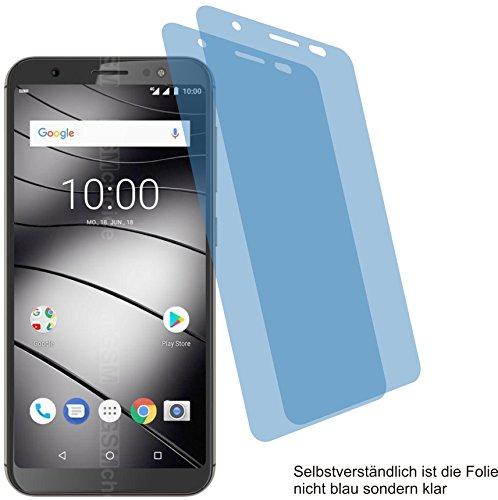 2X Crystal Clear klar Schutzfolie für Gigaset GS185 Bildschirmschutzfolie Displayschutzfolie Schutzhülle Bildschirmschutz Bildschirmfolie Folie