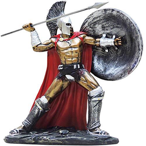 Römische Kriegerstatue, antiker römischer Gladiator Kriegerstatue Figur Skulptur Ornament antiker Krieger Modell H9.8 Zoll