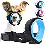 Gentle Muzzle Guard for Dogs - Prevents Biting and Unwanted Chewing Safely - New Secure Comfort Fit - Soft Neoprene Padding - No More Chafing - Training Guide Helps Build Bonds with Pet (XL, Blue)