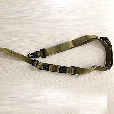 Akimgo (TM) di alta qualit¨¤ tre punti dell'imbracatura del fucile cinghia regolabile Bungee tattico Armeria Paintball Gun Sling per la caccia Army Green - Paintball Gun Slings