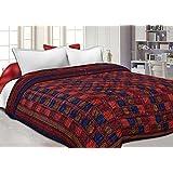 Namaste India Double Bed Size Jaipuri Pure Cotton AC Printed Winter Quilt/Razai/Blanket, King Size (NI-012)