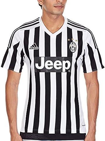 adidas Juventus Domicile Replica Maillot manches courtes Homme Blanc/Noir FR : L (Taille Fabricant :