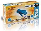 Reflexx R20/L Guanti in Polietilene, Speciali per Alimenti, Taglia L, 200 Pezzi, Blu