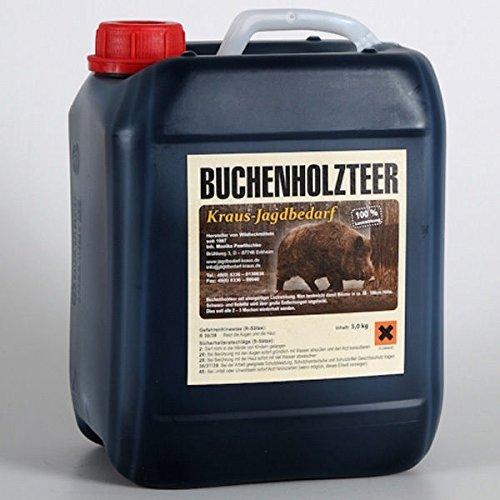 Kraus Jagdbedarf Buchenholzteer 5 kg Lockmittel 100% natürlich altbewährtes Rezept & enorme Anziehungskraft für Schwarzwild und Rotwild