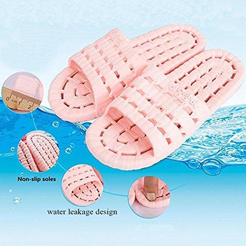YUHUAWYH Unisex Dusch Badeschuhe Damen Sandalen Herren Slippers Hausschuhe Flip Flops Blau