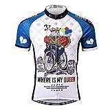 Thriller Rider Sports Uomo Where is My Queen Sport e Tempo Libero Abbigliamento Ciclismo Magliette Manica Corta Medium