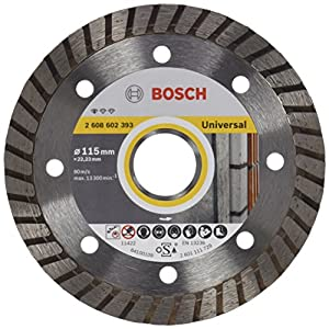 Bosch 2 608 602 393 – Disco tronzador de diamante Standard for Universal Turbo (115 x 22,23 x 2 x 10 mm)