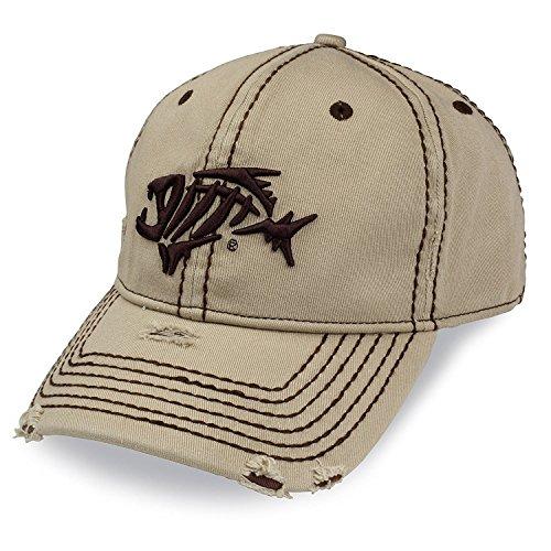 Loomis G a-Flex Distressed Cap, Khaki, S/M -
