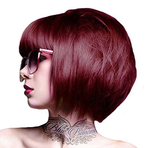 Crazy Color Coloration Pour Cheveux Semi,Permanente 100ml (Rouge Bordeaux)