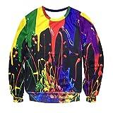 Herren Outwear,TWBB Pullover Outwear Jacket Splash-Tinte 3D gedruckt Herbst Winter Lange Ärmel Mantel Hemd