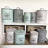 Vorratsdose KITCHEN 3 Farben & Grössen Blechdose Kaffedose Teedose Landhaus Nostalgie Shabby Cottage (gross, Coffee, beige)