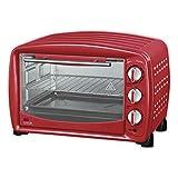 MyWave - Horno Eléctrico Multifunción 1500 W, Mini horno de sobremesa, capacidad de 26 L, estilo retro - Rojo