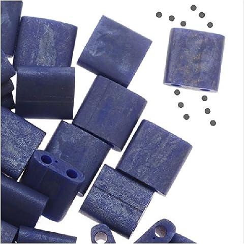 Miyuki Tila 2 granos cuadrados del agujero de 5 mm - Mate Azul Cobalto 7,2 gramos