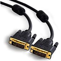 CSL - Cable de 2m DVI a DVI de alta velocidad | Dual Link 24+1 | Contactos bañados en oro | Resoluciones de HDTV de hasta 2560x1600 | 2 núcleos de ferrita | Conductor de cobre OFC estañado | x.v.Color