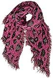 Caspar SC499 Damen XXL Schal mit Animal Print und Glitzer Pailletten, Farbe:pink, Größe:One Size