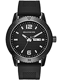 Skechers de Hombre SR5000 analógico Pantalla Cuarzo Negro Reloj
