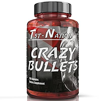 Tst Nation Crazy Bullets – Best Nitric Oxide Arginine AAKG Citrulline Supplement Pine Bark Extract by TST - Nation