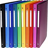 Exacompta 51299E Ringbuch 5er Pack sortiert -> 5 Farben zufällig (PP 500µ, 4 Ringe, Rücken 20mm, blickdicht, DIN A4)
