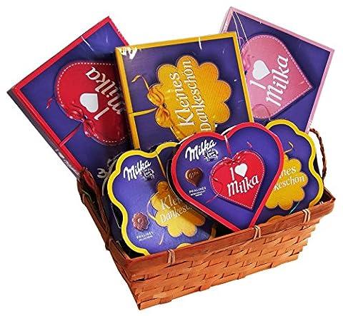 CAPTAIN PACK Geschenk Set Muttertag mit Milka Pralinenspezialitäten (6-teilig), 1er Pack (1 x 480 g)