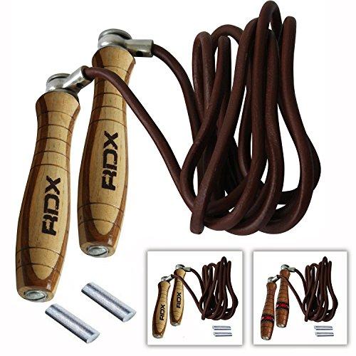 RDX Regolabile Salto Corda per Saltare Pelle Veloce Perdita Peso Pugilato Cavo Allenamento Jump Rope