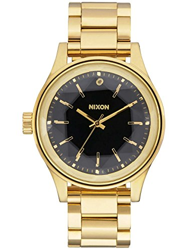 Nixon Damen-Armbanduhr Facet 38 Analog Quarz One Size, gold/schwarz, schwarz