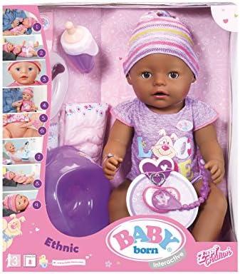 Baby Born–30863–muñeco Baby born Violet–9funciones y accesorios interactivos 11accesorios incluido.