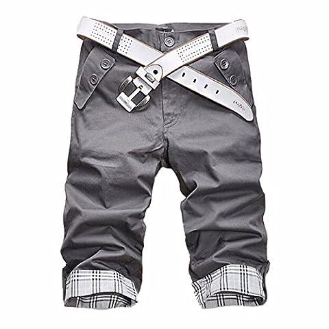 Short Court Coton Homme - QIYUN.Z Pantalons D'ete Des Hommes Rognee Nouveaux