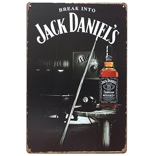 Desconocido Unbekannt Posters und Blechdosen von Whisky Jack Daniels 20 cm x 30 cm. Vintage Metallschild, Dekorativ für Bars, Wände und Garage. Billen.