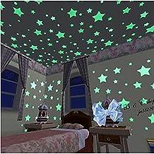 Pared Pegatinas Pegatinas de pared decorativos formas luminosas de pegatinas de pared, material de vinilo removible casa decoracion de Wall Decal