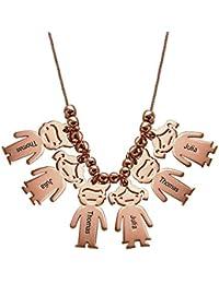 c548b9d34e70 Amazon.es  Collar Nombre - Último mes  Joyería